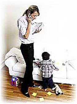 современной маме не обойтись без телефона