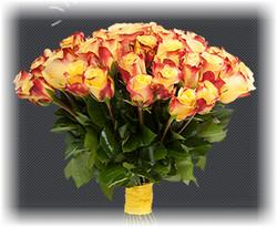 букет роз в подарок на праздник